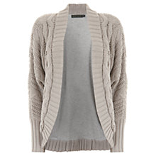 Buy Hygge by Mint Velvet Cable Cardigan, Neutral Online at johnlewis.com
