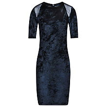 Buy Reiss Nessie Silk Velvet Dress, Navy Online at johnlewis.com
