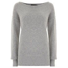 Buy Mint Velvet Zip Detail Knitted Jumper, Silver Grey Online at johnlewis.com