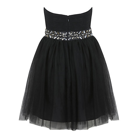 Buy Miss Selfridge Jewel Mesh Prom Dress, Black Online at johnlewis.com