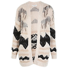 Buy Miss Selfridge Fluffy Fringe Cardigan, Multi Online at johnlewis.com