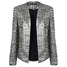 Buy Miss Selfridge Jacquard Jacket, Silver Metal Online at johnlewis.com