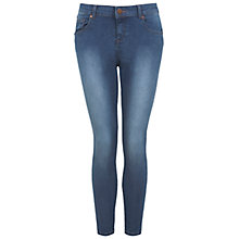 Buy Miss Selfridge Ultra Soft Jeans, Short Length, Mid Denim Wash Online at johnlewis.com