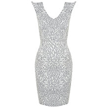 Buy Miss Selfridge Animal Jacquard Bodycon Dress, Multi Online at johnlewis.com