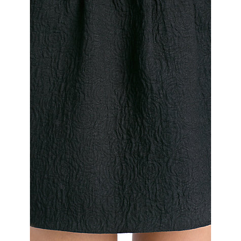 Buy Mango Textured Pleated Skirt Dress, Black Online at johnlewis.com