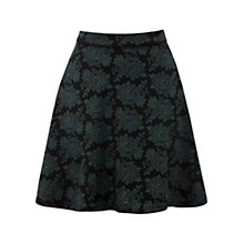 Buy Warehouse Jacquard Flippy Skirt, Black Pattern Online at johnlewis.com