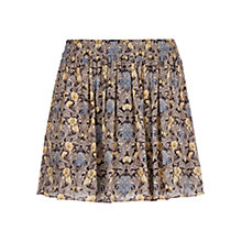 Buy Mango Floral Flared Skirt, Black Online at johnlewis.com