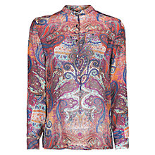 Buy Mango Paisley Print Blouse, Medium Pink Online at johnlewis.com