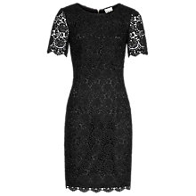 Buy Reiss Swift Guipure Lace Shift Dress, Black Online at johnlewis.com