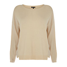 Buy Warehouse Crepe Insert Jumper, Cream Online at johnlewis.com