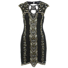 Buy Miss Selfridge Embellished Mini Dress, Black Online at johnlewis.com