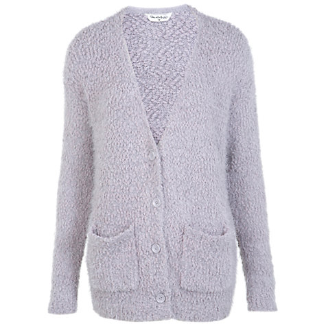 Buy Miss Selfridge Fluffy Cardigan, Light Grey Online at johnlewis.com