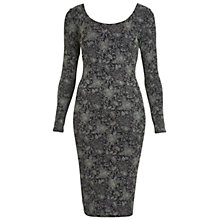 Buy Miss Selfridge Glitter Bodycon Dress, Multi Online at johnlewis.com
