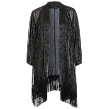 Buy Miss Selfridge Studded Kimono, Black Online at johnlewis.com