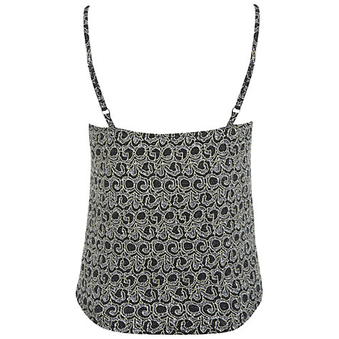 Buy Miss Selfridge Glitter Camisole, Gold Online at johnlewis.com