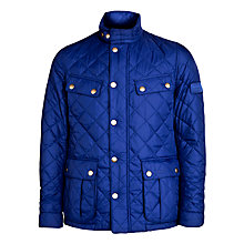 Buy Barbour International Ariel Quilted Jacket, Inky Blue Online at johnlewis.com