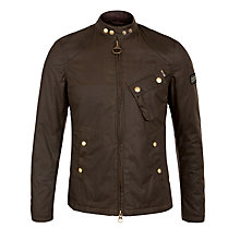 Buy Barbour International Greenham Jacket, Olive Online at johnlewis.com