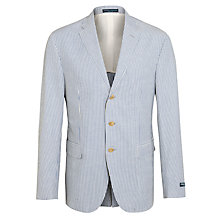 Buy Polo Ralph Lauren Seersucker Jacket, Mid Blue/Cream Online at johnlewis.com