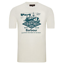 Buy Barbour Craft Naval Print T-Shirt Online at johnlewis.com