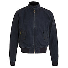 Buy Barbour International Merchant Cotton Bomber Jacket, Navy Online at johnlewis.com