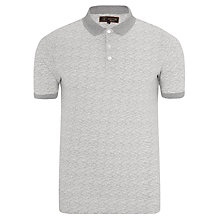 Buy Barbour Dash Printed Polo Top, Neutral Online at johnlewis.com