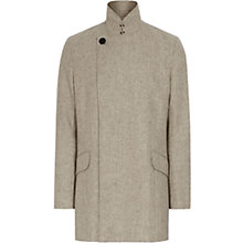 Buy Reiss Gravel Wool-Blend Coat, Oatmeal Online at johnlewis.com