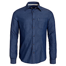 Buy Armani Jeans Slim Pointelle Slim Fit Long Sleeve Shirt, Navy Patterned Online at johnlewis.com