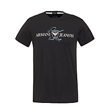 Buy Armani Jeans Logo Short Sleeve T-Shirt, Navy Online at johnlewis.com