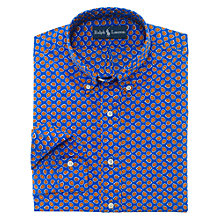 Buy Polo Ralph Lauren Patterned Long Sleeve Shirt, Royal Blue Online at johnlewis.com