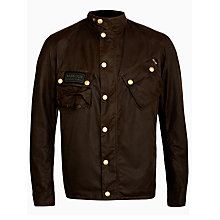 Buy Barbour Waxed Cotton Field Jacket, Olive Online at johnlewis.com