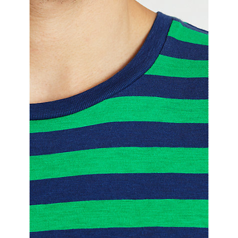 Buy Polo Ralph Lauren Striped T-Shirt, Green/Navy Online at johnlewis.com