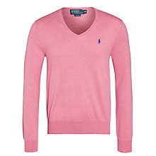 Buy Polo Ralph Lauren Pima Cotton Slim V-Neck Jumper Online at johnlewis.com