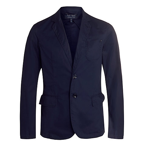 Buy Armani Jeans Stretch Cotton Blazer, Navy Online at johnlewis.com