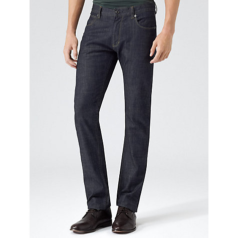 Buy Reiss Robertson Stretch Cotton Jeans, Navy Online at johnlewis.com