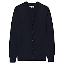 Buy Reiss Dennis Mercerised Wool Cardigan, Navy Online at johnlewis.com