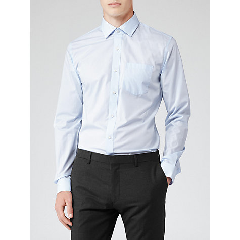 Buy Reiss Pluto Patch Long Sleeve Shirt, White Online at johnlewis.com