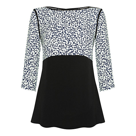 Buy allegra by Allegra Hicks Kaylee Top, Navy Online at johnlewis.com