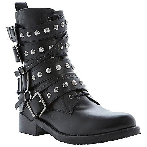 Buy Dune Black Pavlar Calf Boots, Black Online at johnlewis.com