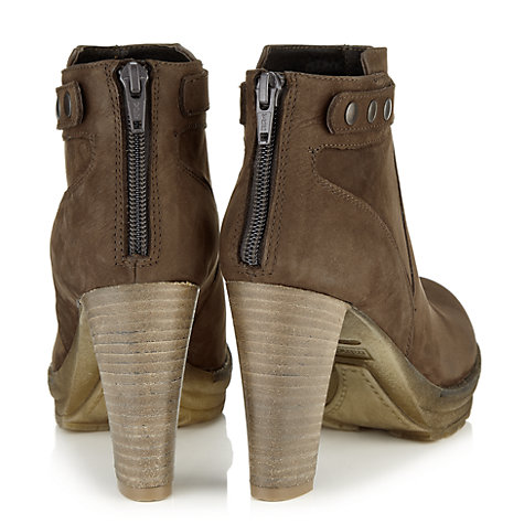 Buy Jigsaw Intensivo Nubuck Ankle Boots, Brown Online at johnlewis.com