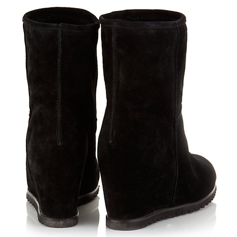Buy Jigsaw Regent Suede Wedge Heel Ankle Boots Online at johnlewis.com