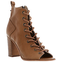 Buy Steve Madden Scandlus Leather Lace-Up Block Heel Sandals Online at johnlewis.com