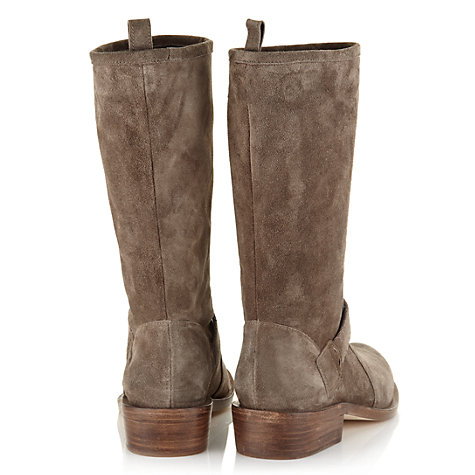 Buy Jigsaw Peckham Suede Pull-On Boots, Grey Online at johnlewis.com