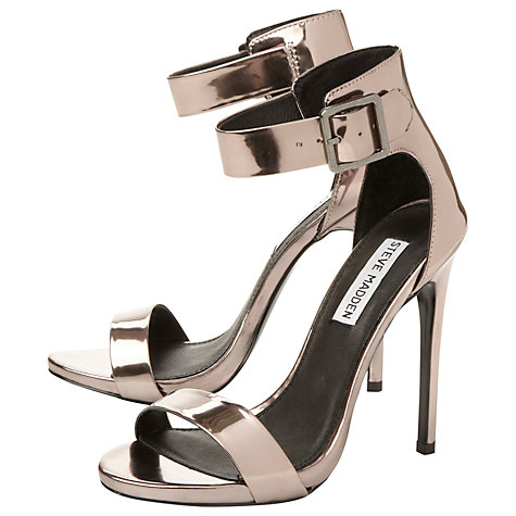Buy Steve Madden Marlen Sandals, Silver Online at johnlewis.com
