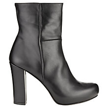 Buy Jigsaw Highgate Leather Platform Shoe Boots, Black Online at johnlewis.com