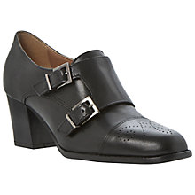 Buy Dune Black Ami Leather Court Shoes, Black Online at johnlewis.com