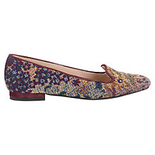 Buy Jigsaw Hampton Tapestry Slipper Loafers, Red Online at johnlewis.com