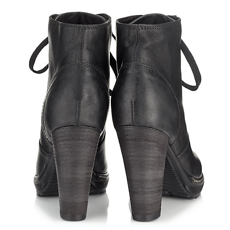 Buy Jigsaw Soho Leather Block Heel Lace-Up Ankle Boots Online at johnlewis.com