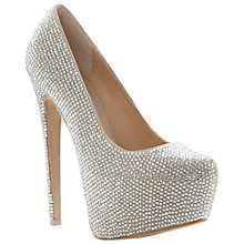 Buy Steve Madden Dandy Court Shoes, Silver Online at johnlewis.com