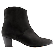 Buy Jigsaw Brockley Nubuck Ankle Boots, Black Online at johnlewis.com