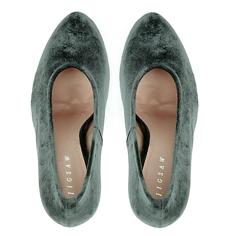 Buy Jigsaw Mayfair Velvet Court Shoes Online at johnlewis.com